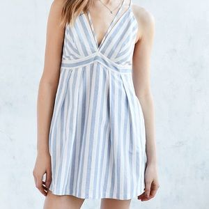 Urban outfitters blue and white mini dress
